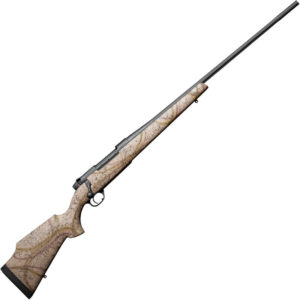 """Weatherby Mark V Outfitter RC Bolt Action Rifle 6.5 Creedmoor 22"""" Barrel 4 Rounds Synthetic Stock High Desert Camo Armor Black Cerakote Finish"""