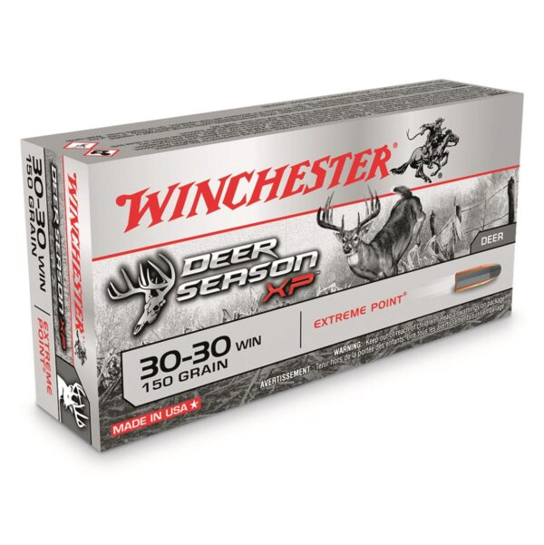 Winchester Deer Season XP, .30-30 Winchester, Polymer-Tipped Extreme Point, 150 Grain, 500 Rounds