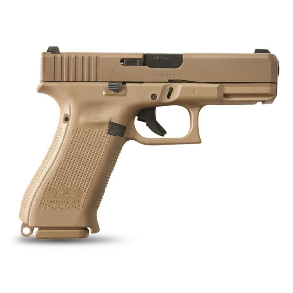 """Glock 19X, Semi-Automatic, 9mm, 4.02"""" Barrel, Coyote Brown, 19+1 Rounds"""